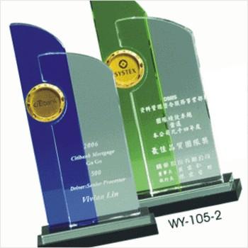 WY-105水晶獎牌